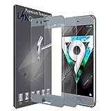 LK Protection écran Huawei Honor 9, [2 Pièces][Couverture complète] Verre Trempé [Garantie de Remplacement à Durée de Vie] Screen Protector Film - Gris Glacier