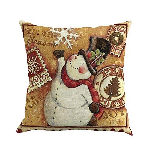 TEBAISE Dekoration Festival Karneval Fasching Fasnacht Startseite Sofa Deko Kissenbezug Santa Christmas Tree Snowman Kissenbezug 45 ×45 cm