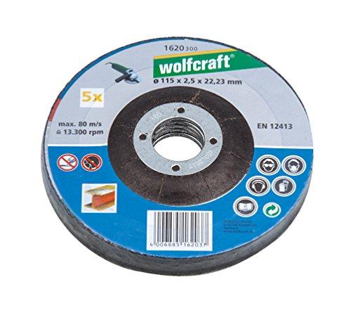 wolfcraft-1620300-5-dischi-da-taglio-per-smerigliatrice-115-x-25-mm