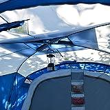 skandika Nimbus 12-Personen Tunnel/Familienzelt, 3 Schlafkabinen, Frontwand verstellbar, 200 cm Stehhöhe - 3