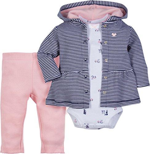 Ookie & Co- Baby-Bekleidungsset für Jungen & Mädchen - Jacke (Hoodie), Hose und Body - 100% Baumwolle mit Druckknöpfen