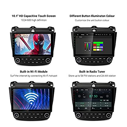 XTRONS-101-Android-90-4GB-RAM-64GB-ROM-Autoradio-mit-Touch-Screen-Octa-Core-Multimedia-Player-untersttzt-4G-WiFi-Bluetooth-DAB-OBD2-TPMS-Musik-Streaming-FR-Honda-Accord-7-VII-Linkslenkung