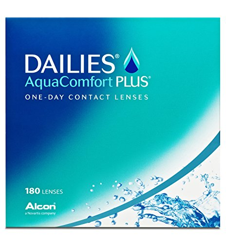 Dailies AquaComfort Plus Tageslinsen weich, 180 Stück / BC 8.7 mm / DIA 14 / -4 Dioptrien
