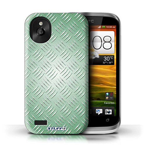 Kobalt® Imprimé Etui / Coque pour HTC Desire X / Argent conception / Série Motif en Métal en Relief Vert