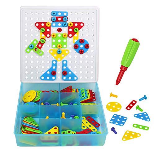 Mosaic Puzzle Pegboard para Niños Construcción Juegos...
