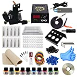ITATOO Pro Tattoo Kits Pro Tattoo Guns Tattoo Pigment Tattoo Maschine komplett Set LED-Netzteil EU-Stecker (TK1000009)