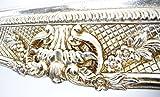 Großer Barock Bilderrahmen 75x85 / 50x60 cm Silber (Antik) Im Retro-Vintage look. In Handarbeit hergestellt. (Foto-Rahmen) Idealer Gemälde-Rahmen für Ausstellungen STAR-LINE® -