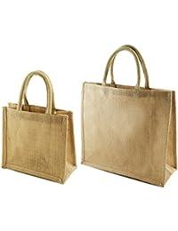 JC Combo Pack Of Jute Bag For Men Women Girl Boy To Carry Travel Shopping Lunch Tiffin Gift Hand Bag