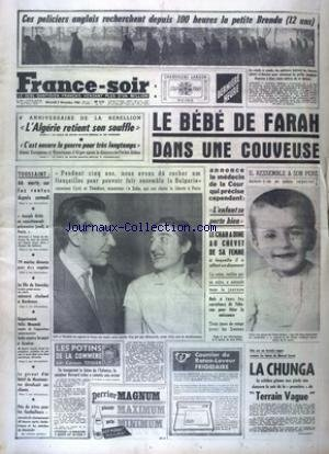 FRANCE SOIR DERNIERE HEURE [No 5064] du 02/11/1960