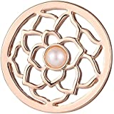 Morella Damen Amulett Coins 33 mm Zirkoniasteine