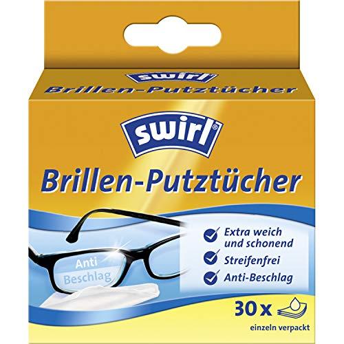 Swirl Brillen-Putztücher 30x (Feuchte Brillenreinigungstücher mit Anti-Beschlag-Effekt für klare Sicht)