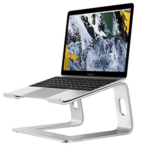 Urbo Kart Laptop Ständer mit Kabelmanagementsystem und Tastaturstauraum, Notebook Ständer (10-14 Zoll) für ergonomisches Arbeiten im Büro