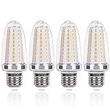 SanGlory 4 Pezzi Lampadine LED E27 a Candela - 14W Equivalenti a 120W - 1580 Lumens Luce Bianca Calda 3000K CRI>80+, Lampadina Mais LED E27 Non Dimmerabile (E27 Luce Calda)