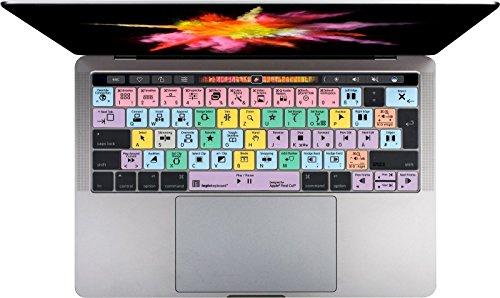 LogicKeyboard LS-FCPX10-MBP16-DE Logicskin Apple Final Cut Pro, deutsches Tastatur-Layout Lila/Grün/Blau/Gelb/Rosa