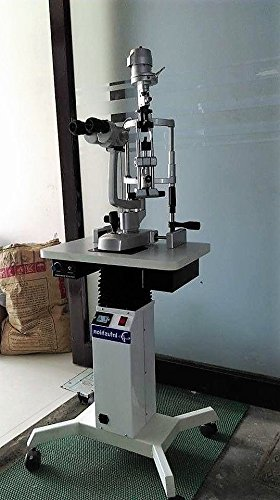 Microscopio médico de la lámpara de hendidura con la tabla de poder motorizada