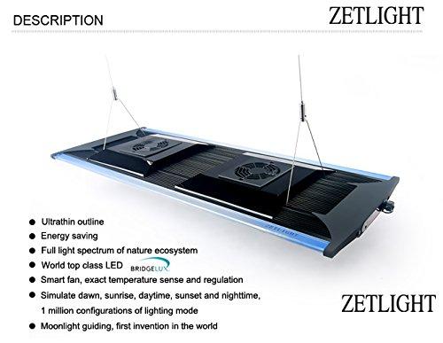 Aquarium LED Beleuchtung Zetlight AQUA Serie, moderne Aquariumbeleuchtung für Garnelen oder Nanobecken (ZA-1200 Süßwasser) - 2