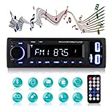 Autoradio Bluetooth Car Stereo MP3,Mekuula 1 DIN 4x60W LCD Stereo Car Radio Station Lettore MP3 Player Supporta FM/USB / Micro SD/AUX / Bluetooth/Telecomando
