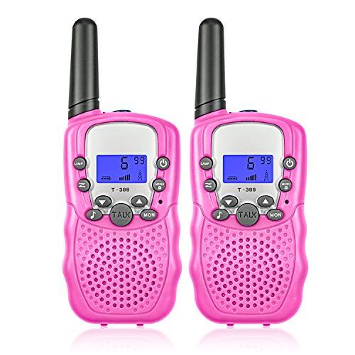 Kinder Funkgeräte Walkie Talkies für Kinder 8 Kanal 3000M (max. 5000M Freifeld) Langstrecken Handheld Taschenlampe mit LCD-Display(2er-Set) Handheld-taschenlampe