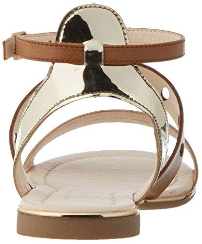 Another Pair of Shoes Damen Smillae1 Offene Sandalen mit Keilabsatz Braun (tan986)