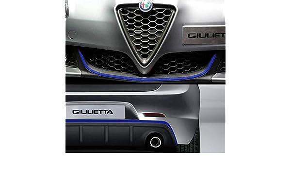 Quattroerre 19988 Profile Chrom Aufkleber f/ür Sto/ßstange Full vorne hinten Alfa Giulietta mit doppelseitigem Klebeband 3M