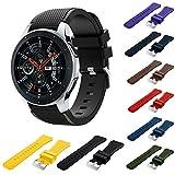 BZLine Armband | Weiches Silikon Sport Uhrenarmband | Für Samsung Galaxy Watch 46 mm Smartwatch Bluetooth | Robust und