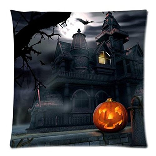 Kissenbezug Frohe Halloween Kissenhülle 45x45 cm Ronamick 2PC Happy Halloween Pillow Cases Linen Sofa Cushion Cover Home Decor (D)