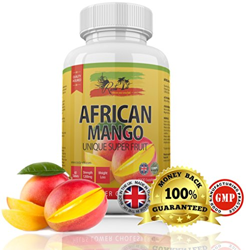 African Mango Rapid Weight Loss Diet pills by Rasta-Viti – 60 small 1200mg High Strength VEGETARIAN & VEGAN Slimming tablets for both Men & Women – Strong Formulation Appetite Suppressant & Metabolism Booster Supplement – Controls Cholesterol – Burns Tummy Fat Fast & Safely – Proudly made in the UK with 100% MONEY BACK GUARANTEE!