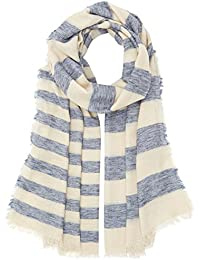 PIECES Damen Umschlagtuch Pcmay Long Scarf, Mehrfarbig (Whitecap Gray Whitecap Gray), One size