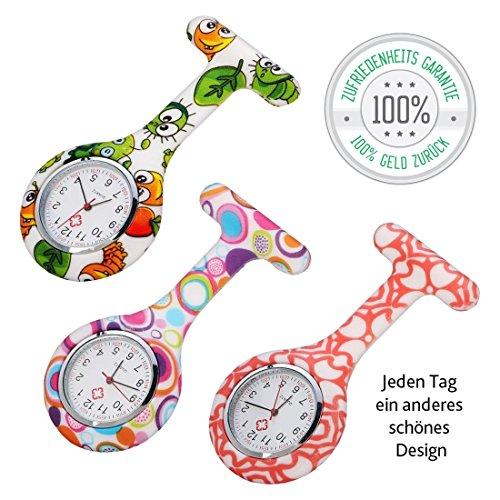 Pulsuhr Krankenschwester Krankenschwesteruhr 3 Stück stylish bunte präzise Pulsuhren Uhr für Krankenschwestern Sanitäter Ärzte Arzt bestes Preis-Leistungsverhältnis 100% Zufriedenheitsgarantie für Ihre Schwesternuhren von Tillmann's Deutschland®