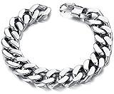 Ostan Bijoux Hommes Gothique 316L Acier Inoxydable Cuff Bracelet Bangle - Nouveaux...
