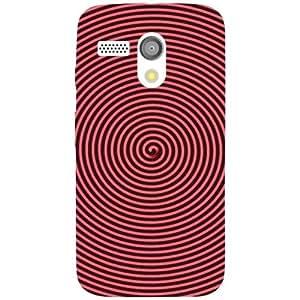 Motorola Moto G Back Cover - Red Circle Designer Cases