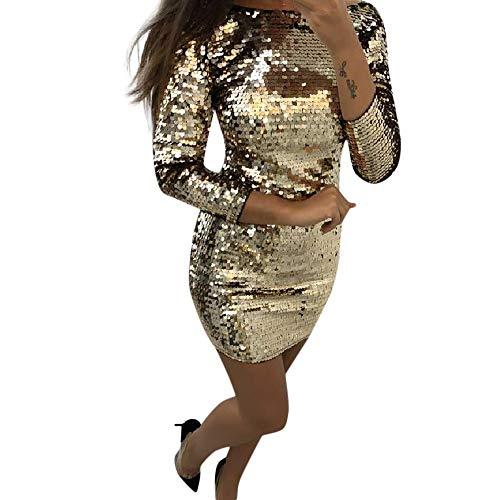 Lenfesh Mujer Vestido de Fiesta