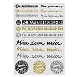 FC Bayern München Aufkleberkarte Schriftzug