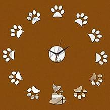 Lxlnxd Reloj De Cuarzo De 3 Grandes Lunas De Lujo De Diseño Moderno Reloj Réplica Relojes De Cristal 3D 6 Tars Acrílico