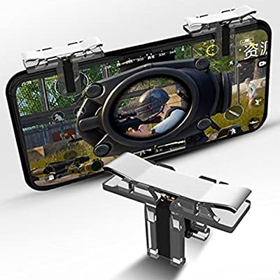 Teepao PUBG Fornite Mobile Game Controller,Sensitive L1R1 Shoot and Aim Joysticks For Android IOS,Transparent Cellphone Gaming Trigger(1 Pair)
