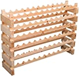 Homcom Wooden Wine Rack 6 Tier Shelf for 72 Bottles Shelving Storage Holder