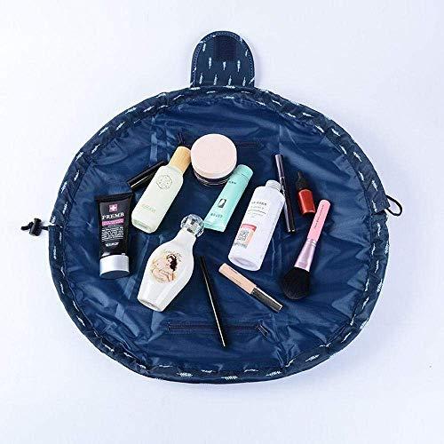 Kit de neceser de maquillaje, organizador portátil y resistente al agua, bolsa de cosméticos de moda para mujeres, almacenamiento de joyería con cremallera y bolsa de transporte azul Deep Blue