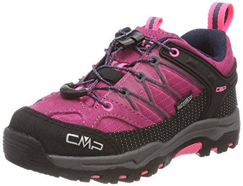 CMP Unisex-Kinder Rigel Trekking-& Wanderhalbschuhe, Pink (Pink Fluo-Asphalt), 33 EU