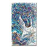 zgmtj Grande Graffiti Art Running Horse Pittura Animale Immagine Decorativa Stampe su Tela per Soggiorno Arte Moderna No Frame 40x80cm
