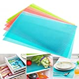 #10: Kuber IndustriesTM Refrigerator Drawer Mat / Fridge Mat Set Of 6 Pcs (Multi)