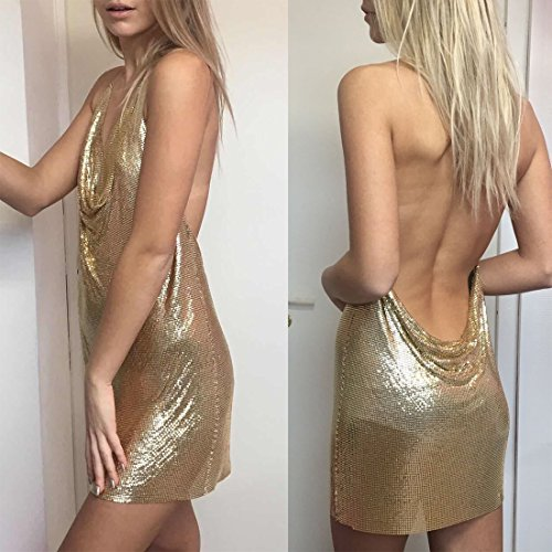 Solememo-Nightclub-See-Through-Deep-V-Halter-Top-Metal-Sequins-Crop-Top-Sexy-Club-Sexy-Backless-Evening-Gold-Dress