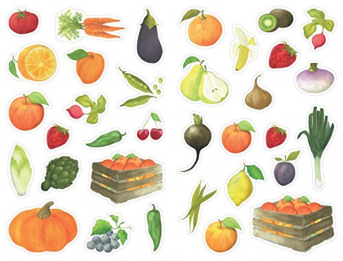 maildor-fruits-and-vegetables-mimi-stick-groups-of-stickers-multi-colour