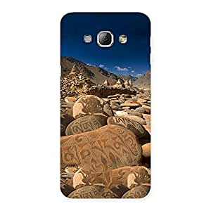Enticing Roads Stone Print Back Case Cover for Galaxy A8