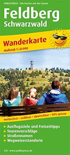 Feldberg: Wanderkarte mit Ausflugszielen, Einkehr- & Freizeittipps, Straßennamen, wetterfest, reißfest, abwischbar, GPS-genau. 1:25000 (Wanderkarte / WK)