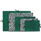 Exacompta Lot de 10 Cartons à dessins Annonay avec 1 paire de cordons 26x33cm Marbré Vert