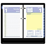 """AT-A-GLANCE Daily Desk Calendar Refill, QuickNotes, January 2019 - December 2019, 3-1/2"""" x 6"""", Loose Leaf (E51750)"""