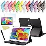 SVS 3in1 SET Tab S 10.5 360° Schutzhülle + Folie + Pen Samsung Galaxy Tab S SM-T800 / T801 / T805 Tasche Etui (Schwarz)