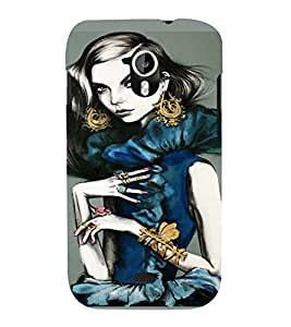 PrintVisa Beautiful Girl Art 3D Hard Polycarbonate Designer Back Case Cover for Micromax Canvas HD A116