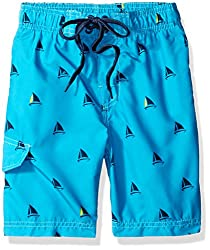 Kanu Surf Little Boys Toddler Regatta Sailboat Swim Trunk, Aqua, 4T