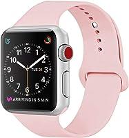 ZRO para Apple Watch Correa, Silicona Suave Reemplazo Correo de Sport Banda para 38mm iWatch Serie 2/ Serie 1